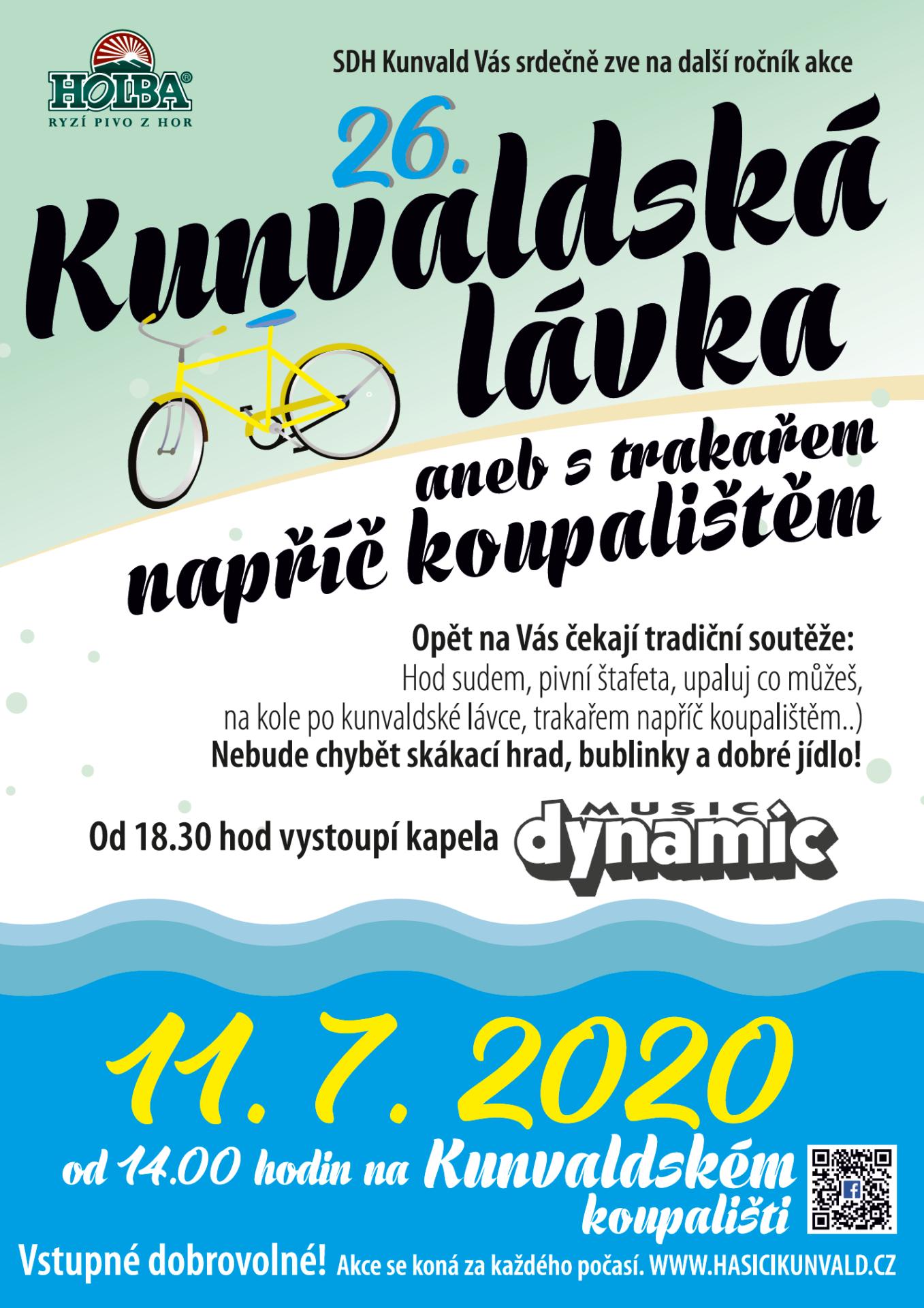 Kunvaldská lávka 2020